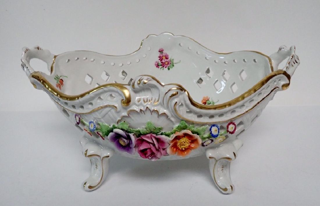 Von Schierholz Porcelain Centerpiece Footed Bowl