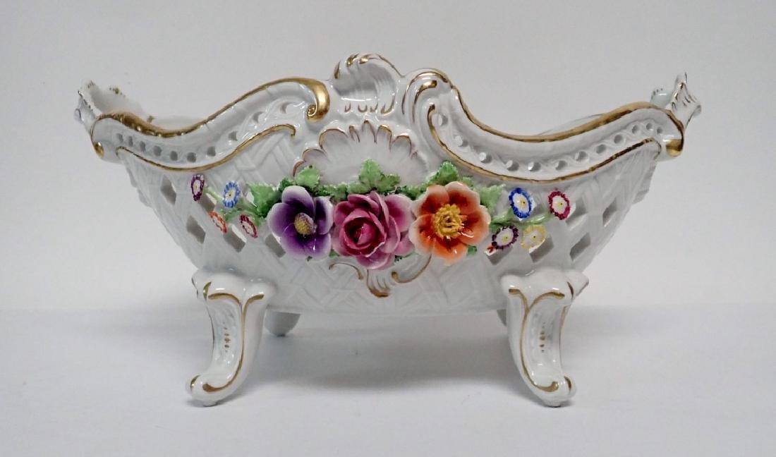 Von Schierholz Porcelain Centerpiece Footed Bowl - 2