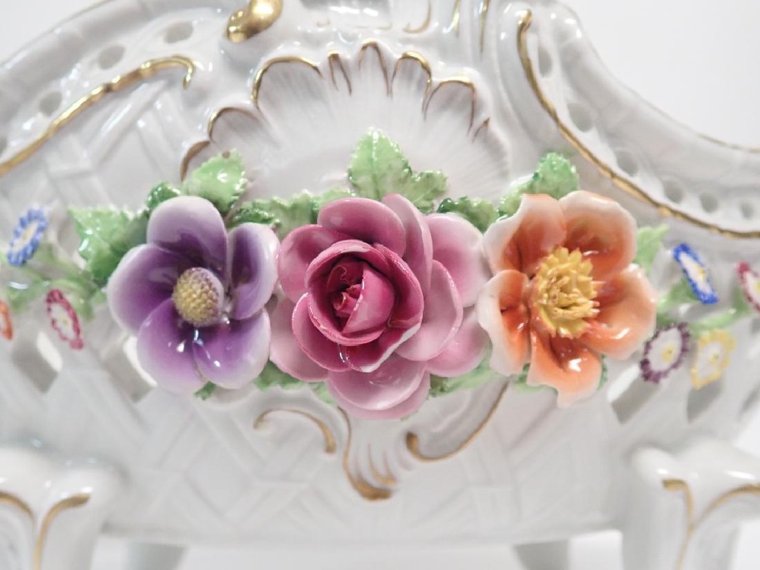 Von Schierholz Porcelain Centerpiece Footed Bowl - 3
