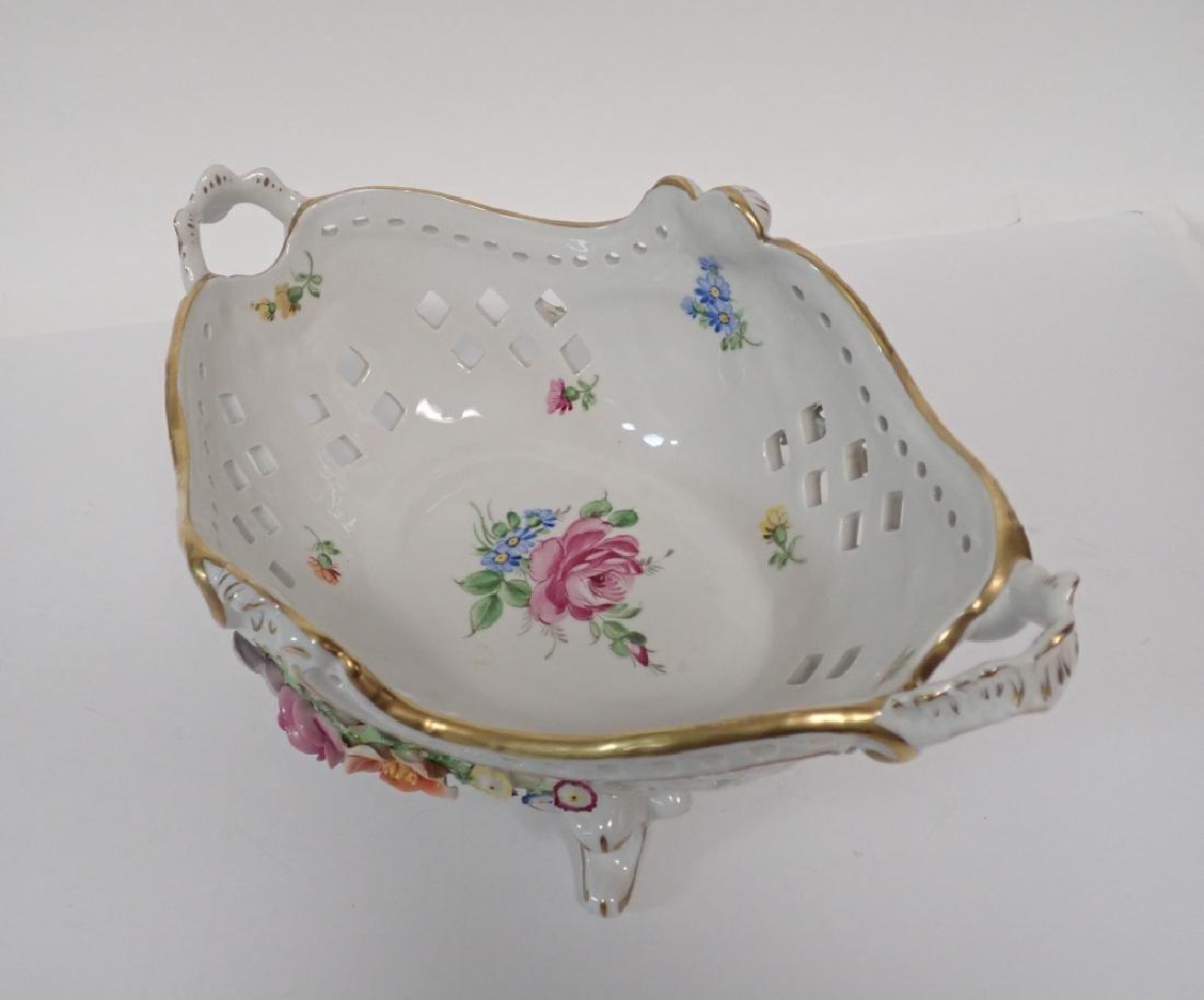 Von Schierholz Porcelain Centerpiece Footed Bowl - 5
