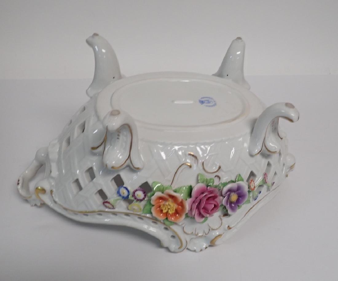Von Schierholz Porcelain Centerpiece Footed Bowl - 8