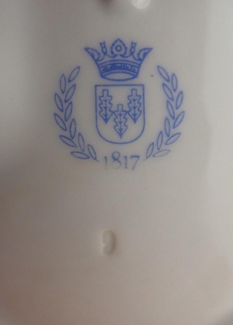 Von Schierholz Porcelain Centerpiece Footed Bowl - 9
