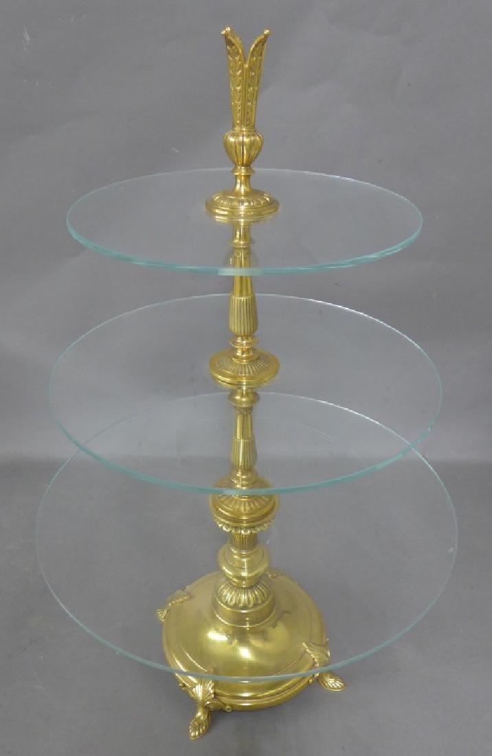 Dore over Bronze 3 Tier Dessert Stand