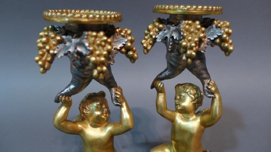 Austrian Patinated Figural Candle Sticks - 3