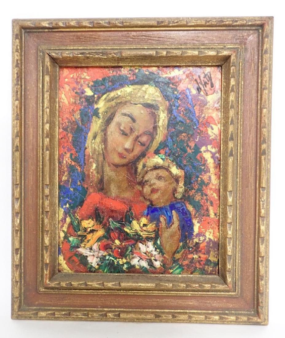 Modern Painting of Madonna and Christ