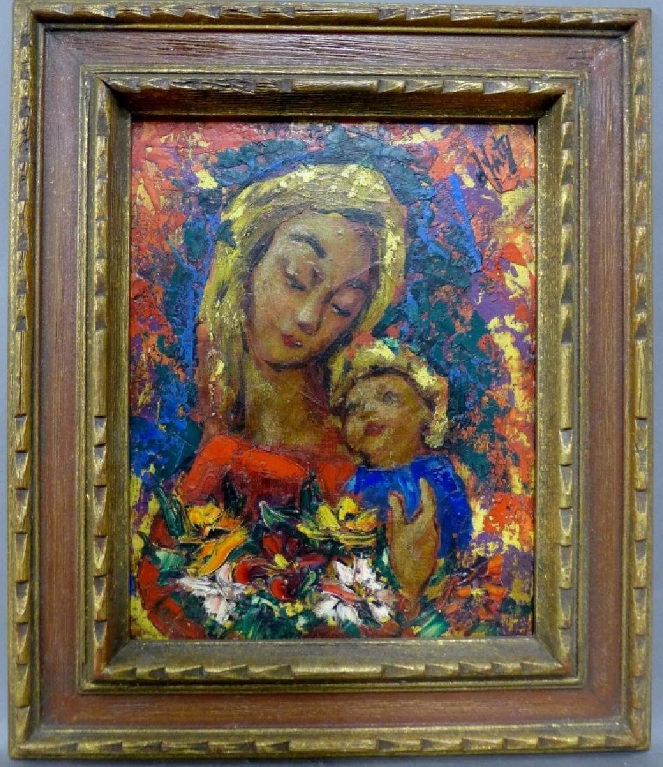 Modern Painting of Madonna and Christ - 2