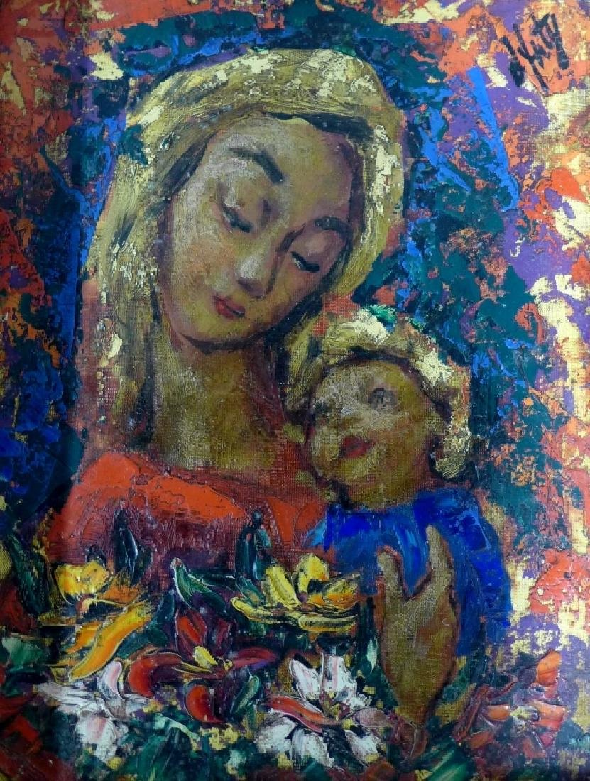Modern Painting of Madonna and Christ - 3