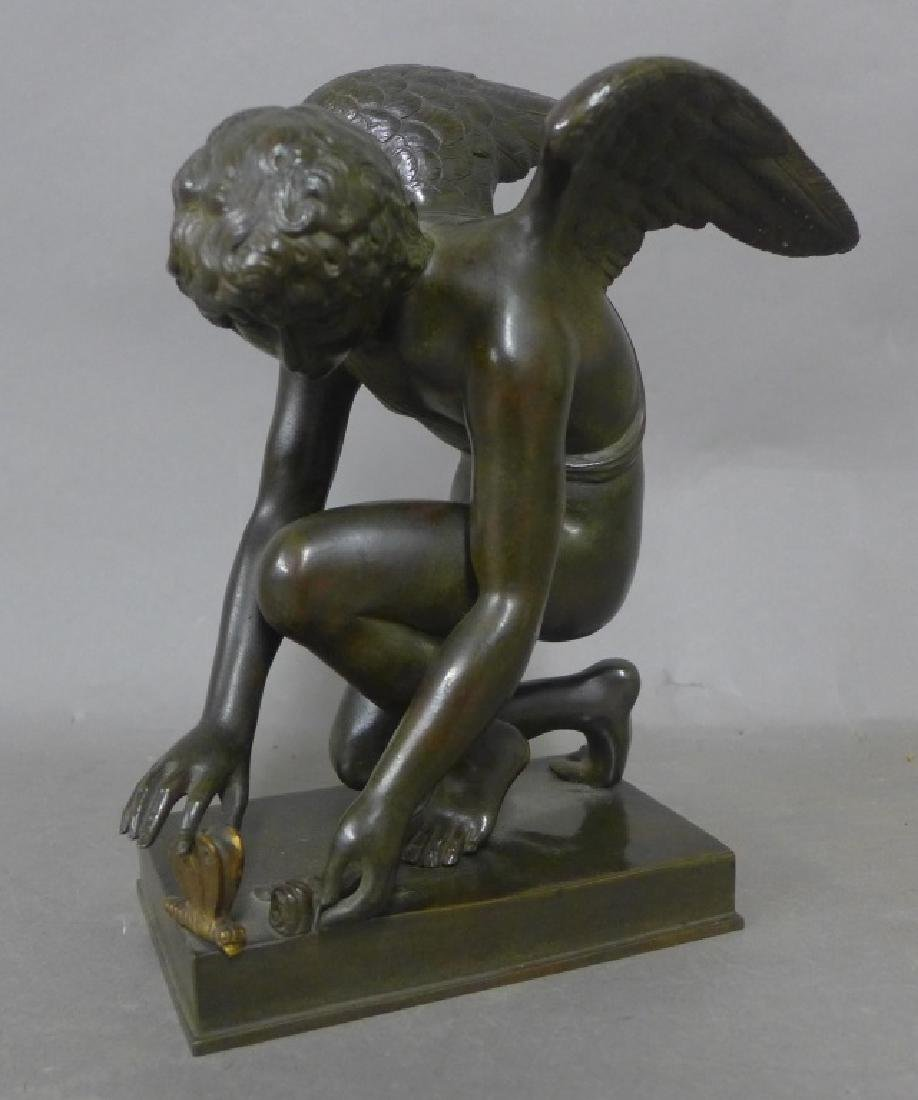 Cupid with Butterfly After Chaudet Bronze - 3