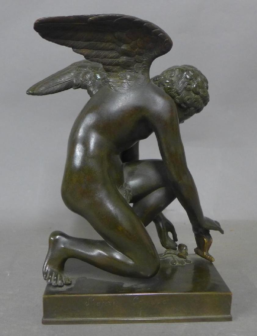 Cupid with Butterfly After Chaudet Bronze - 5