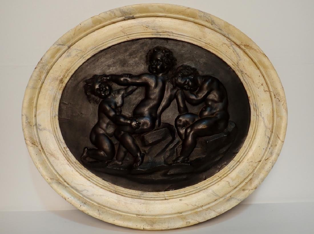 Pair of 19th Century Composition Relief Plaques - 2