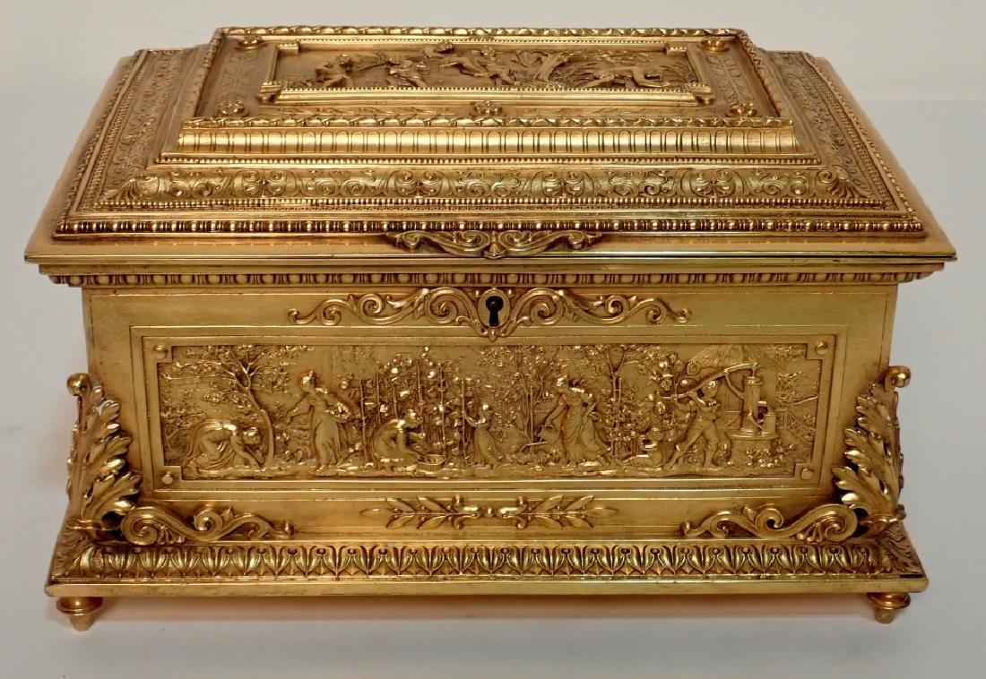Large 19th Century Dore Bronze Box