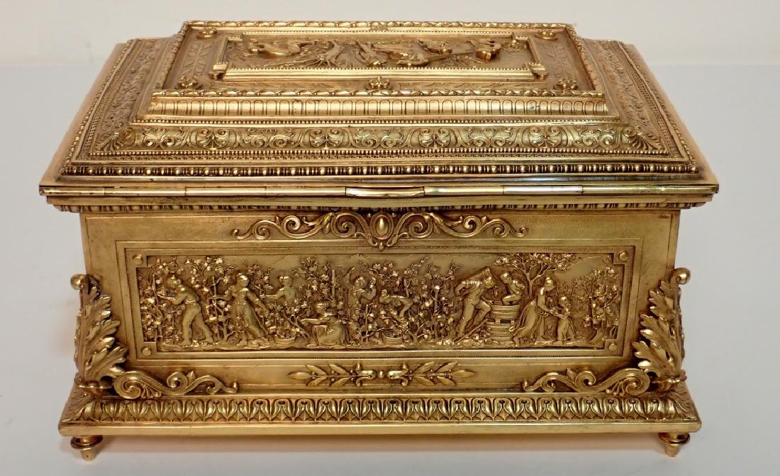 Large 19th Century Dore Bronze Box - 3