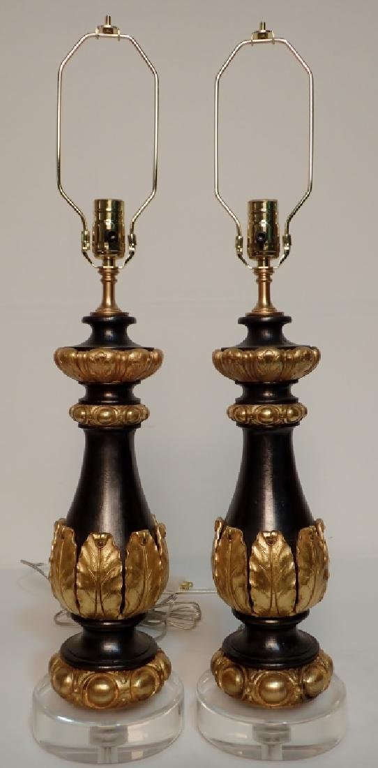 Charles X Style Gilt Bronze Garnitures as Lamps