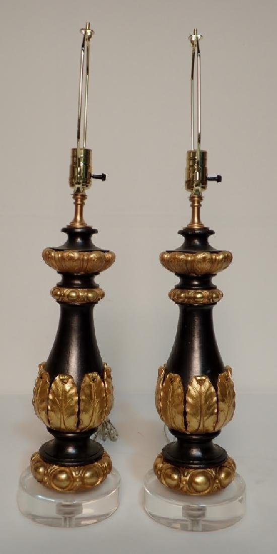 Charles X Style Gilt Bronze Garnitures as Lamps - 2