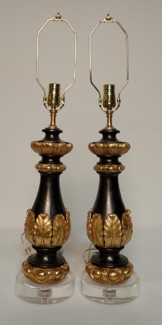 Charles X Style Gilt Bronze Garnitures as Lamps - 3