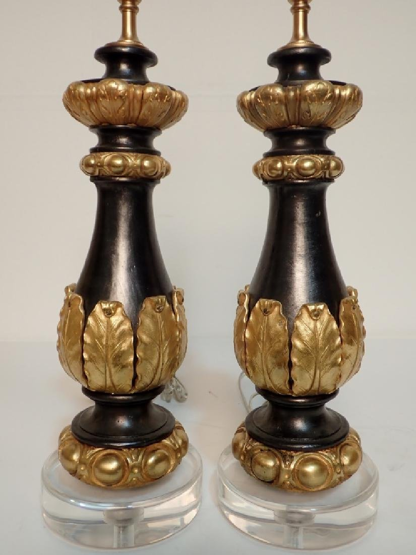 Charles X Style Gilt Bronze Garnitures as Lamps - 5