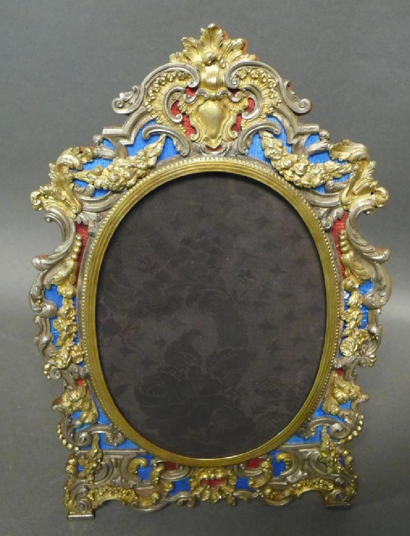 19th Century Ornate Vermeil Picture Frame
