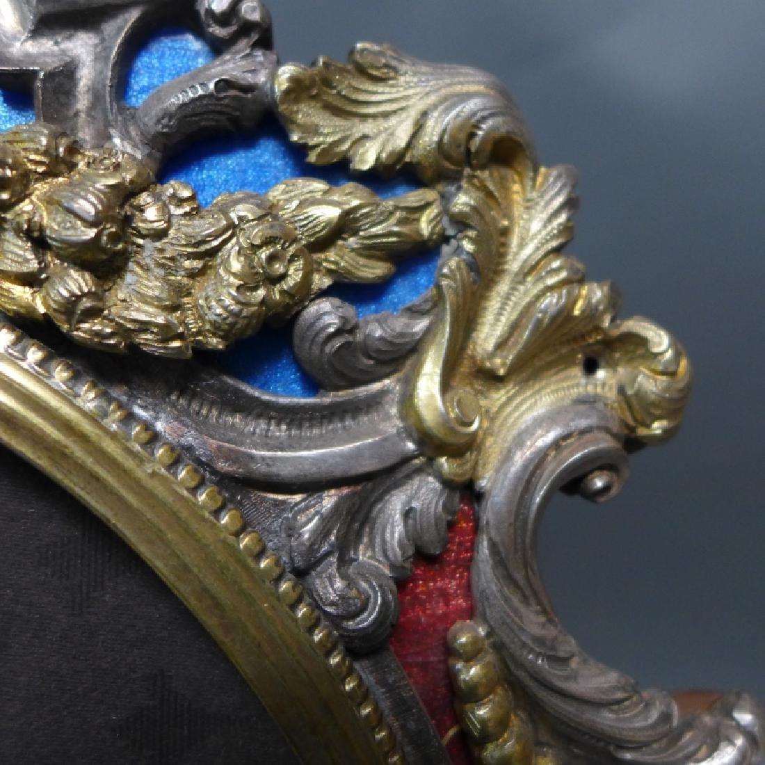 19th Century Ornate Vermeil Picture Frame - 4