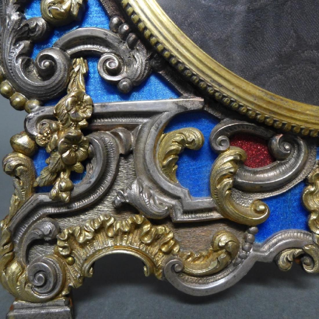 19th Century Ornate Vermeil Picture Frame - 5