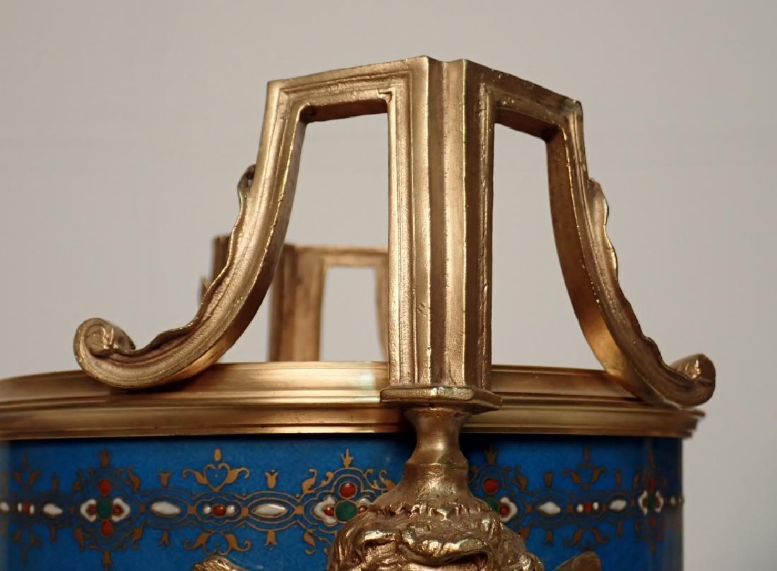 Louis XVI Style Bronze Mounted Porcelain Urns - 10