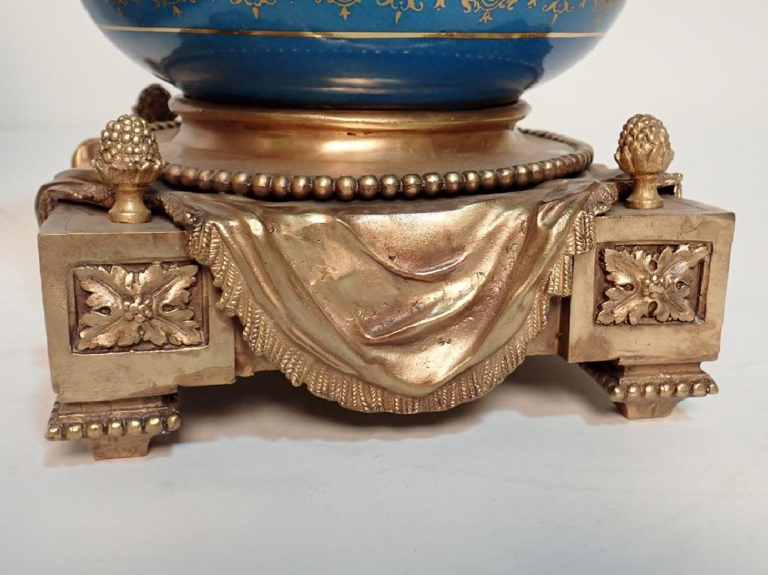 Louis XVI Style Bronze Mounted Porcelain Urns - 5