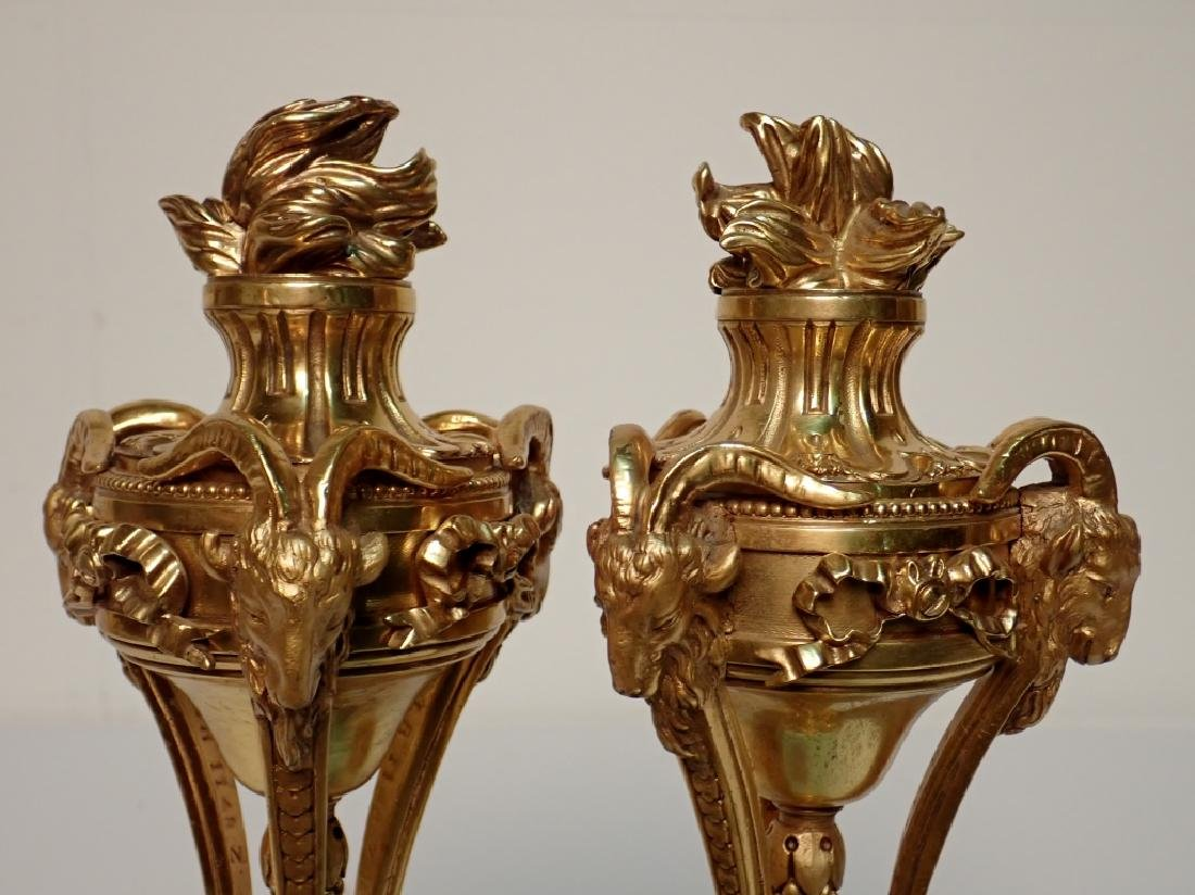 Louis XVI Style Dore Bronze Garnitures on Marble - 9