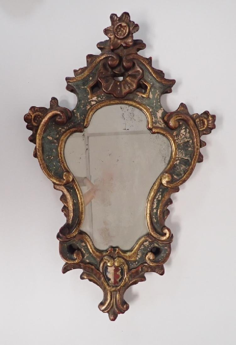 Borghese Cast Plaster Gilt Mirror