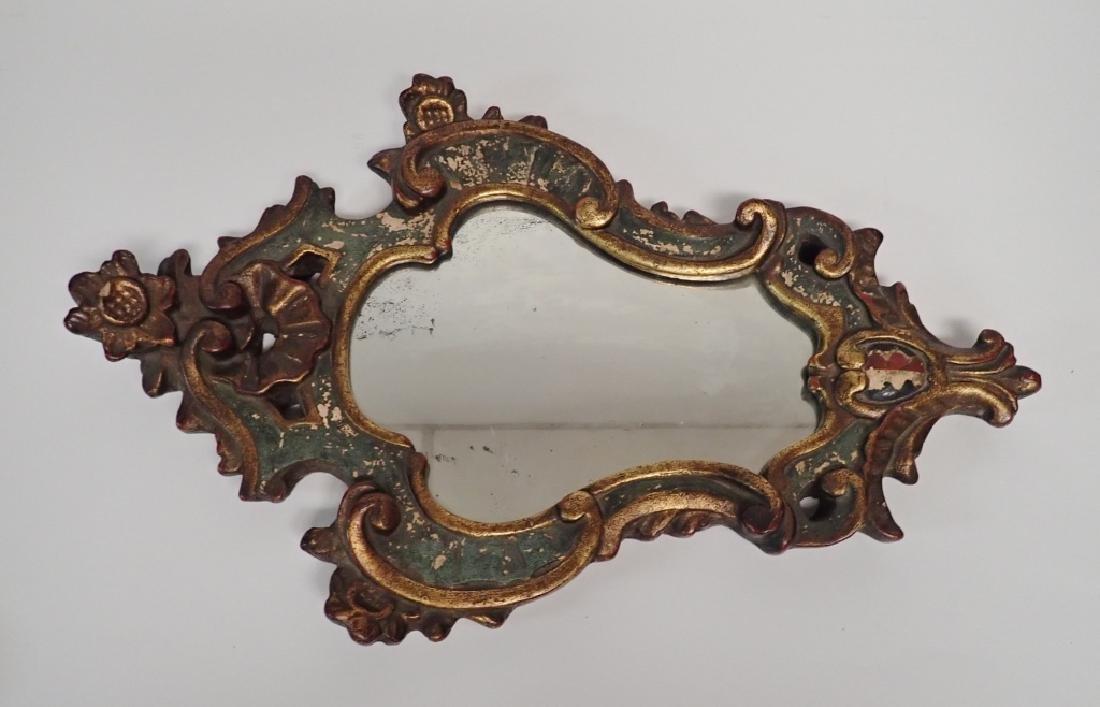 Borghese Cast Plaster Gilt Mirror - 2