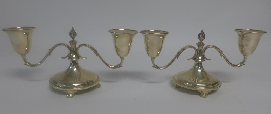 Pair of Sterling Silver Candlestick Holders