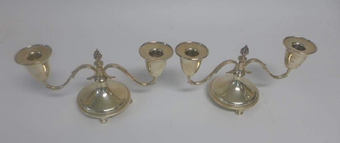 Pair of Sterling Silver Candlestick Holders - 2