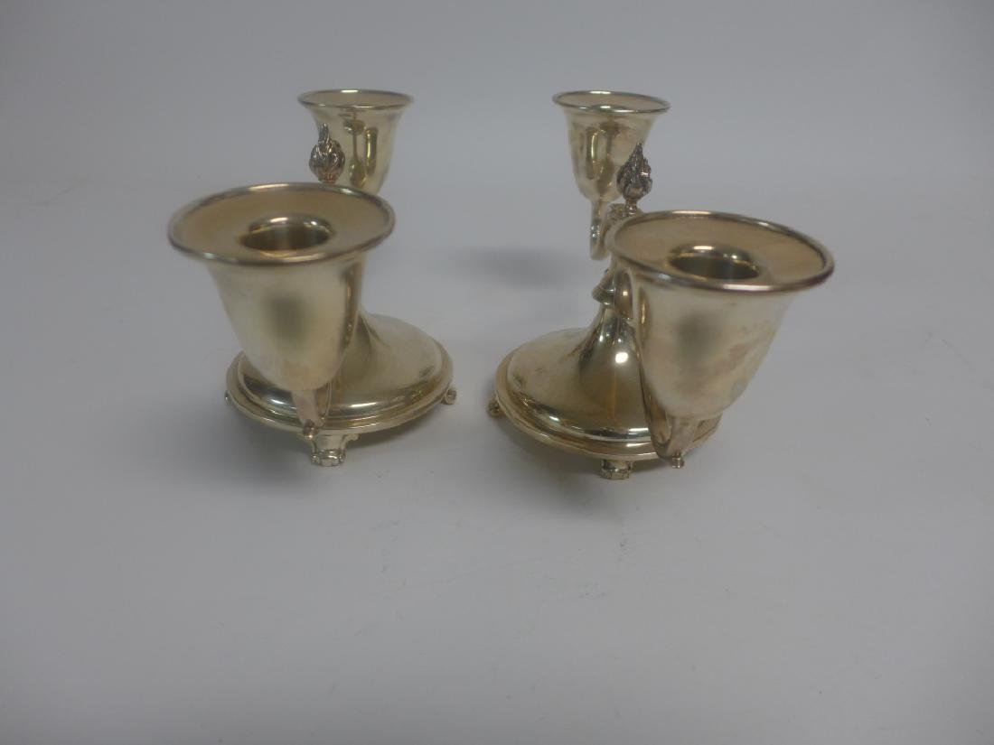 Pair of Sterling Silver Candlestick Holders - 6