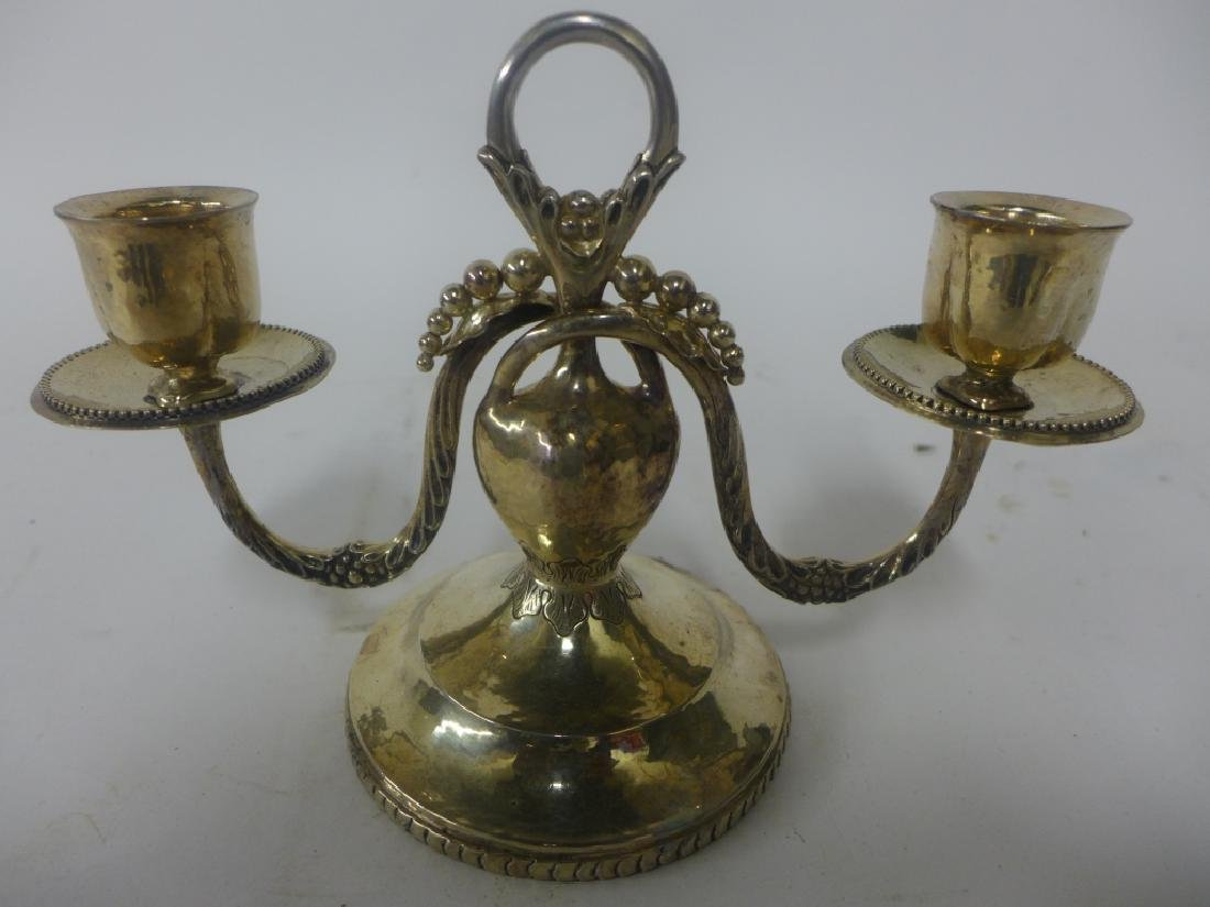 Sterling Silver Candlestick Holder