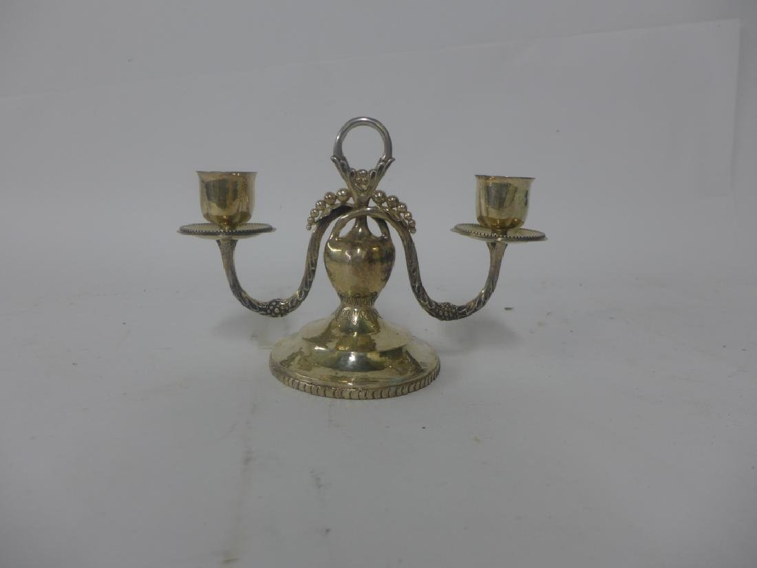Sterling Silver Candlestick Holder - 2