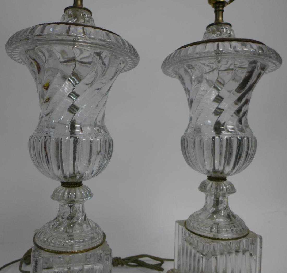 Pair of Baccarat Molded Glass Lamps - 3