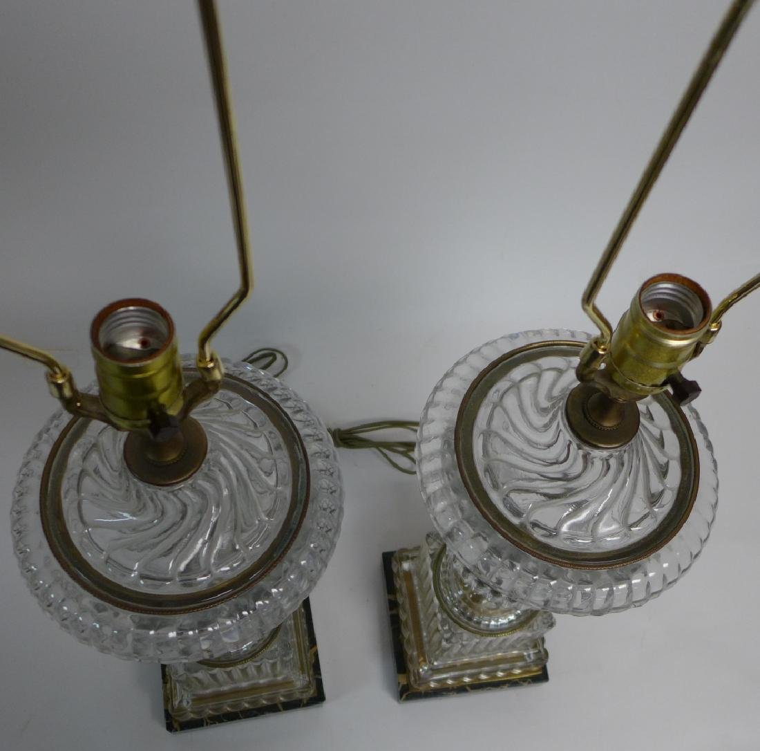 Pair of Baccarat Molded Glass Lamps - 4