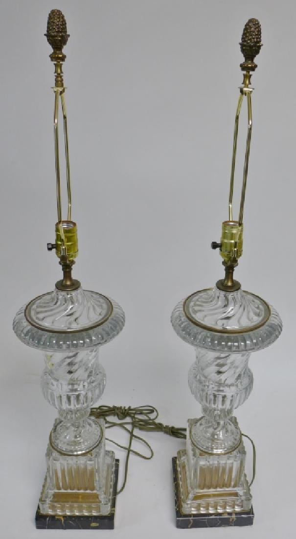 Pair of Baccarat Molded Glass Lamps - 6