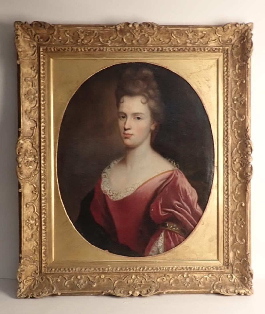 19th Century Framed Portrait of a Woman
