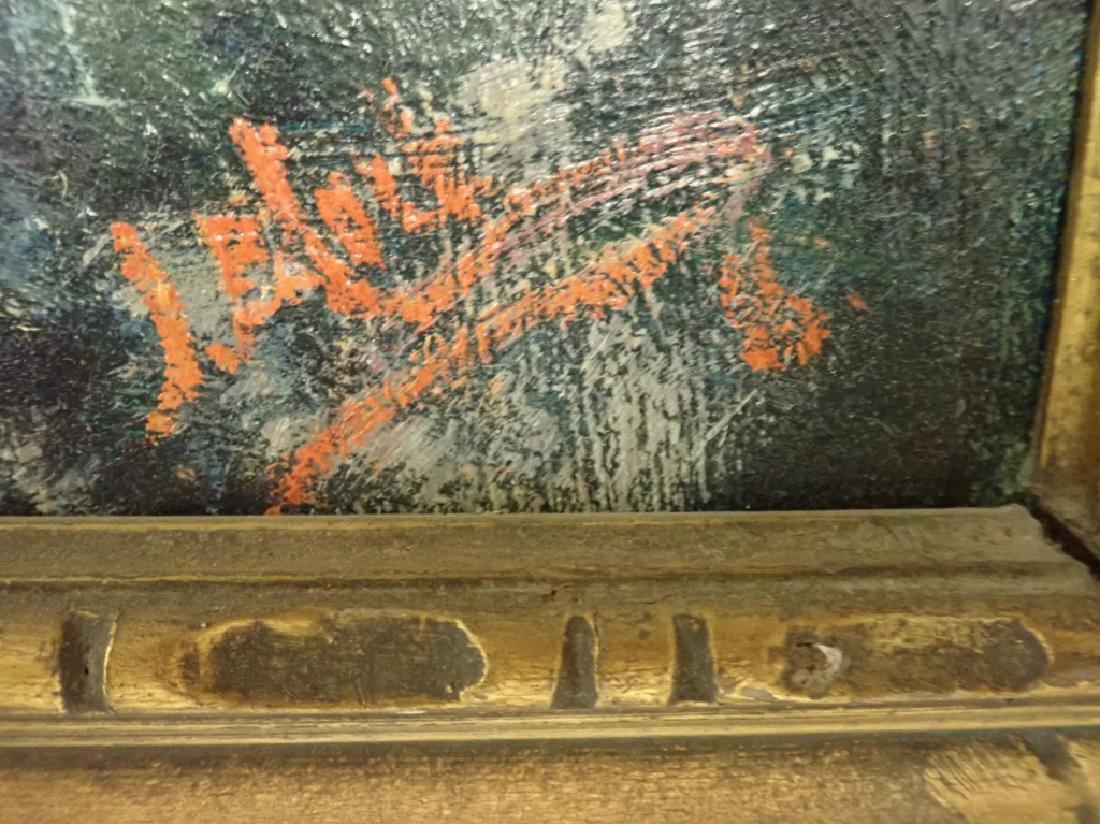 Vintage Oil on Board of Castle - 4