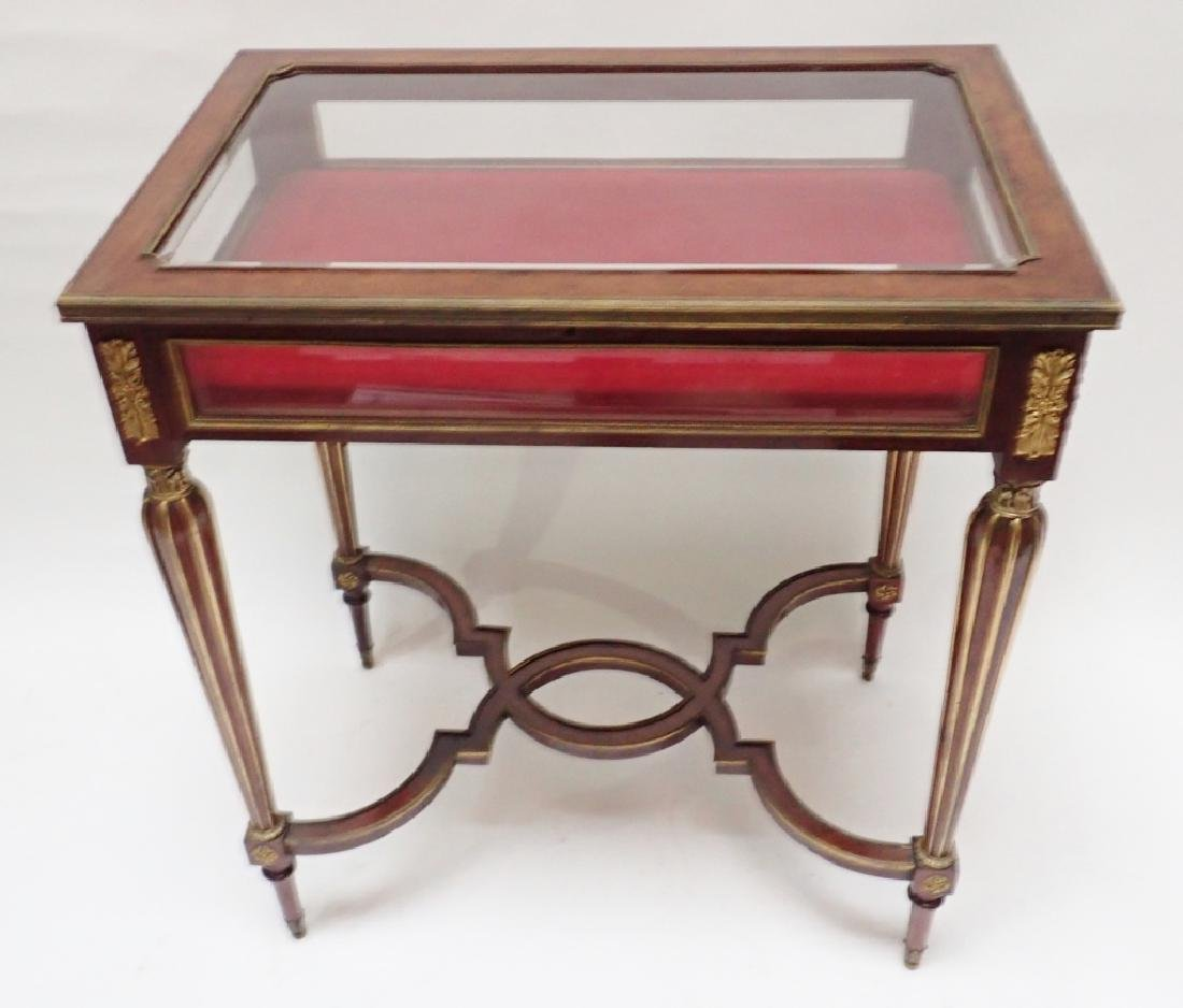 Louis XVI Dore Bronze Mount Vitrine Table