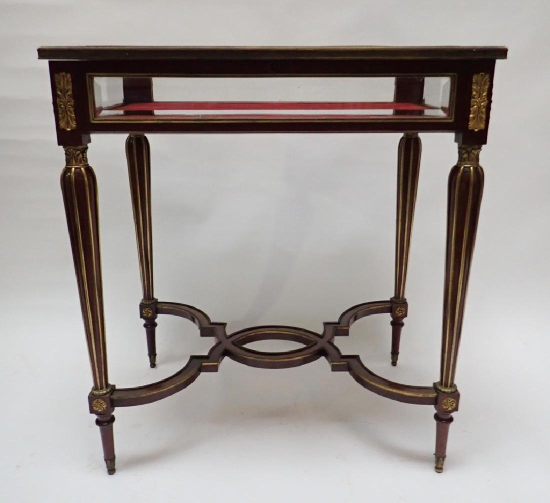Louis XVI Dore Bronze Mount Vitrine Table - 3