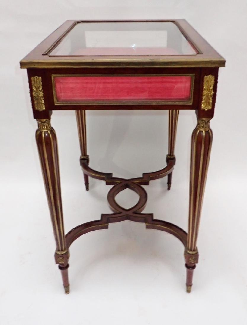 Louis XVI Dore Bronze Mount Vitrine Table - 4