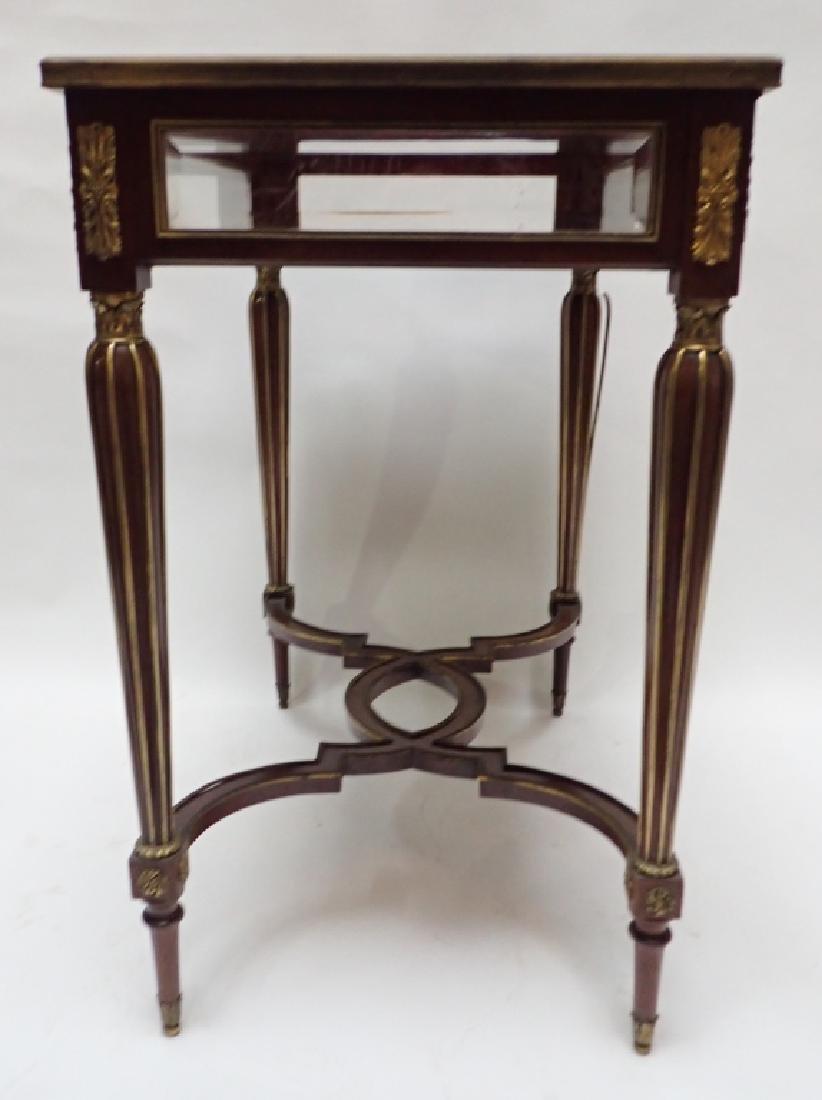 Louis XVI Dore Bronze Mount Vitrine Table - 9