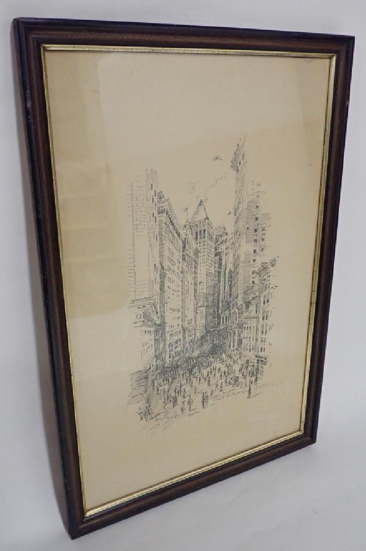 Pen & Ink New York City Street Scene - 2