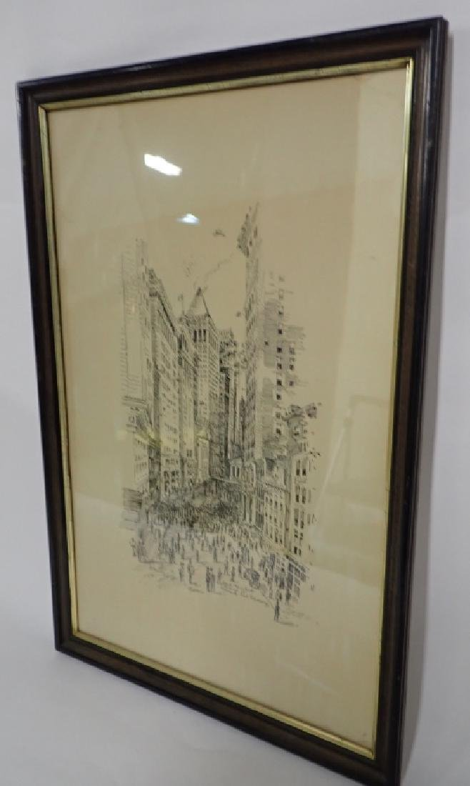 Pen & Ink New York City Street Scene - 3