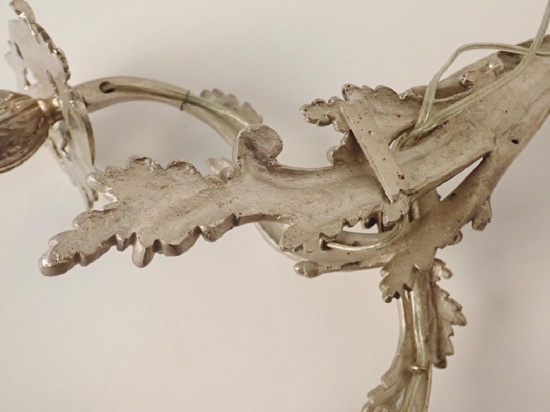 Louis XV Style Sconce Pair Nickel Over Bronze - 10