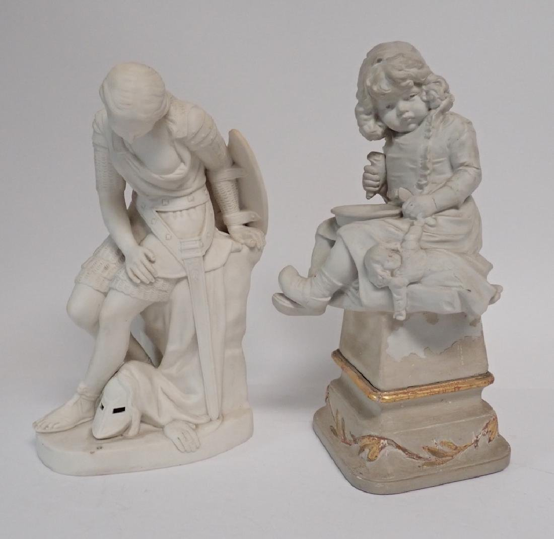Two Parisian and Bisque Figures
