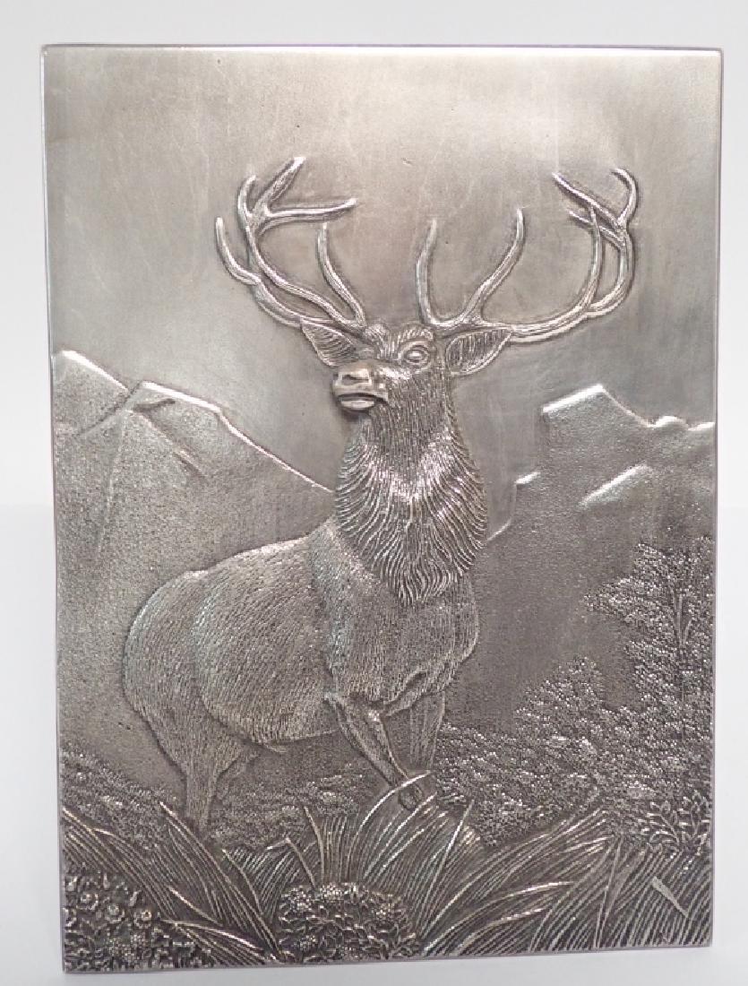 19th Century Silver Over Bronze Plaque - 10