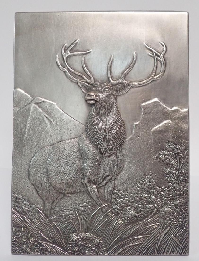 19th Century Silver Over Bronze Plaque