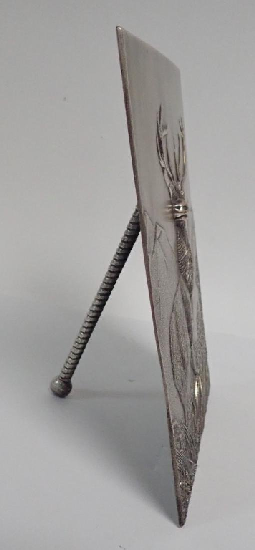 19th Century Silver Over Bronze Plaque - 3
