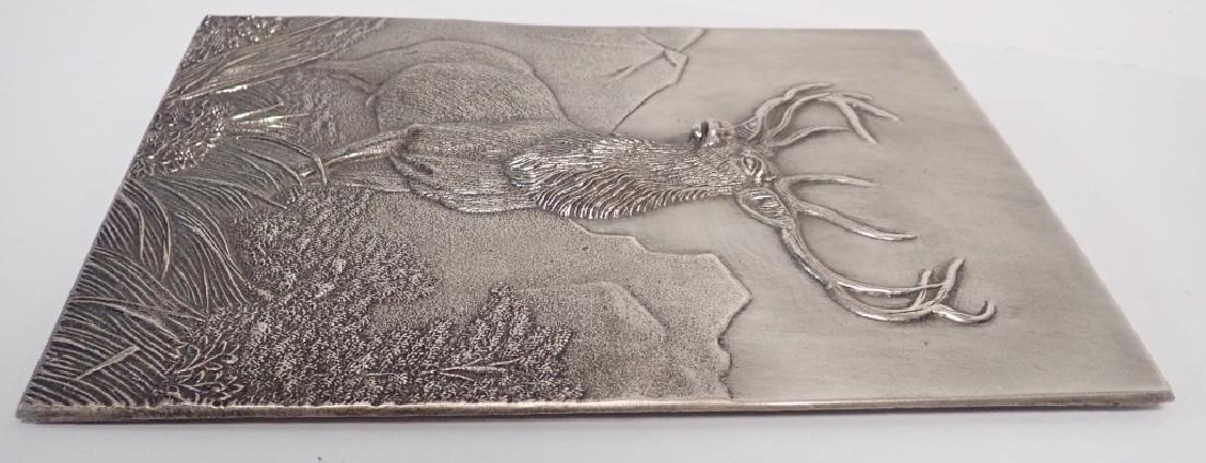 19th Century Silver Over Bronze Plaque - 4
